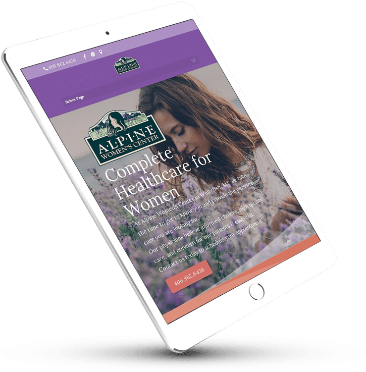 Web Design | Alpine Women's Center Whitefish Montana