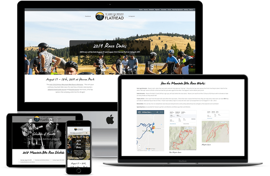 Web Design 24 Hours of Flathead Mountain Bike Race Montana