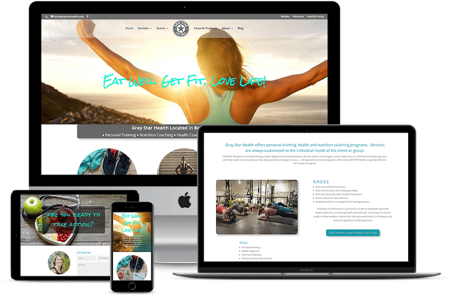 Web Design Gray Star Health Personal Trainer Bozeman Montana