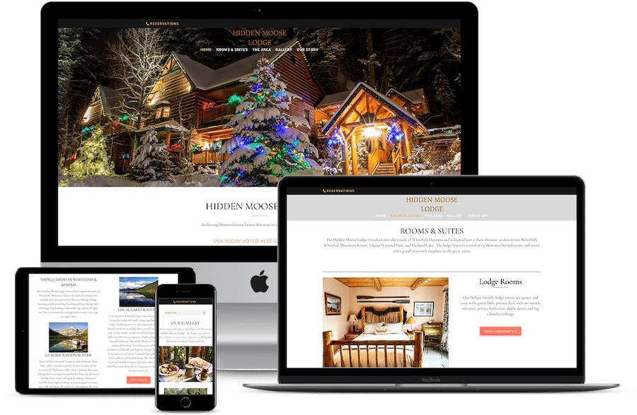 Web design Hidden Moose Lodge Whitefish Montana