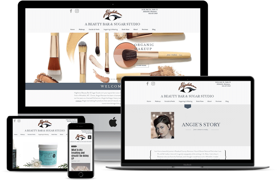 Wix web design Highbrow 406 Whitefish Montana