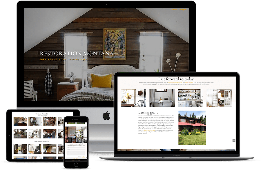 Web design Restoration Montana home remodeling interior design